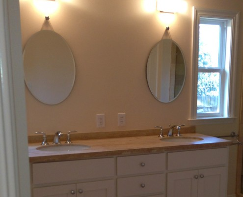 Oak Electric Home Remodel Bathroom Lighting