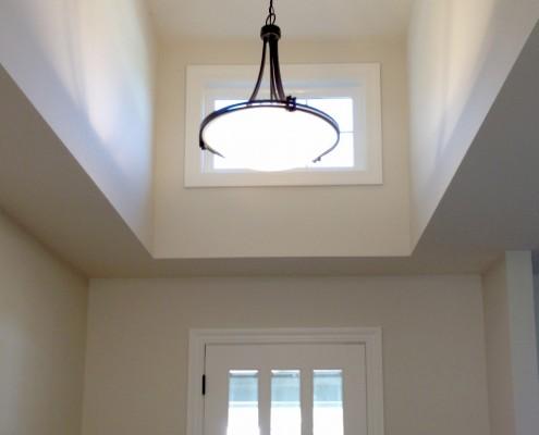 Oak Electric Home Remodel Foyer Lighting